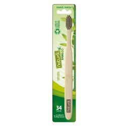 Escova Natural Suavetex Bamboo 34 Tufos Cerdas Macias